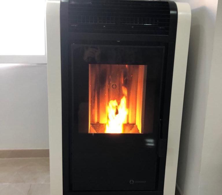Instalación de calefacción con caldera de pellet