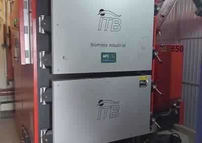 Instalación de biomasa industrial